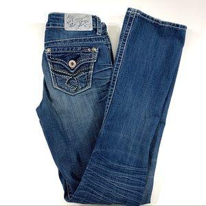 Hydraulics Distressed  Lola Slim Boot Jeans Sz 3/4